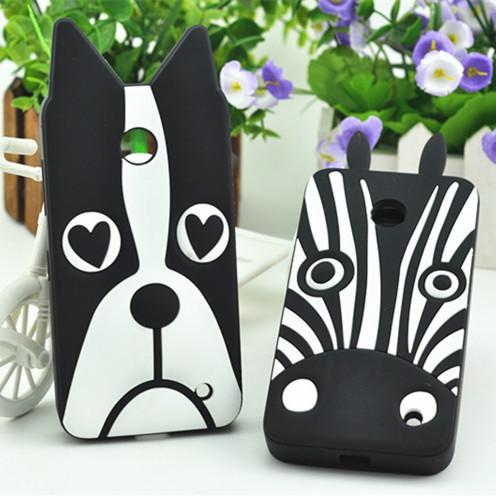 Lovely 3D Dog Zebra Soft Silicon Case for Nokia Lumia 630 636 638 Phone Cover Case for Nokia Lumia 630 636 638(China (Mainland))
