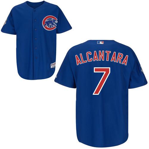 Cheap Custom Chicago Cubs Mens Jerseys #7 Arismendy Alcantara Blue Baseball Jersey3087(China (Mainland))