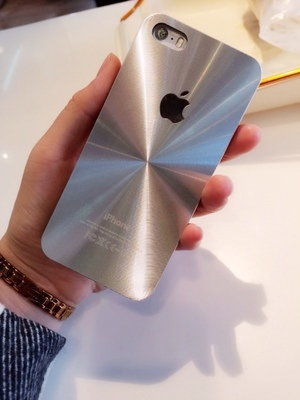 produto 2015 New listing laser CD grain Back cover shell for iphone 5 5S 5G 6 4.7'' cases hard PC Phone cases High quality With logo
