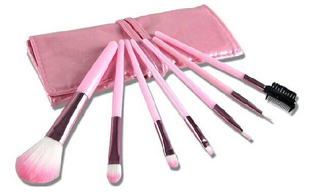 Kit Makeup Brushes Pink