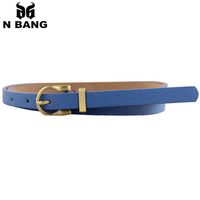 2015 fine vintage pin metal buckle pigskin leather belts for women not easy oxidation popular colorful  for dress free shipping