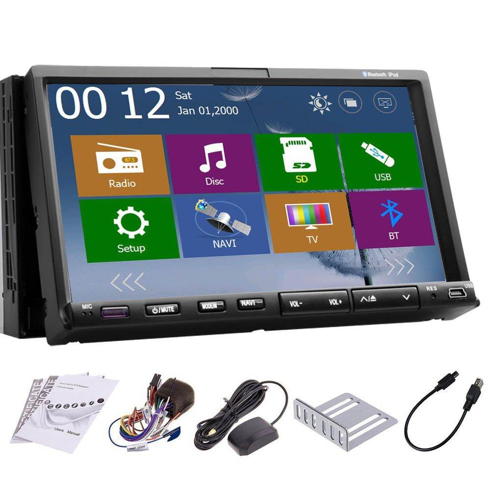 WINDOWS CE 8.0 2 Din GPS Navigation Car Audio Stereo DVD Mp3 Player BT+Ipod+SD+RDS+Slide Down+USB+In-dash Head Unit Car Radio(China (Mainland))