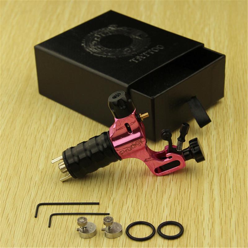 New Rose Red Zinc Alloy Prodigy Rotary Motor Tattoo Machine Gun Shader Liner(China (Mainland))