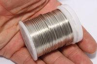 20 Gauge Silver Wire - Silver Tone Round Half Hard Wire - Silver round half hard wire - wrapping wire