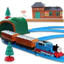 Free shipping 1 Set Thomas Train Toys Electric Rail Train Thomas & Friends Electric Train Set Track Toys For Kids(China (Mainland))