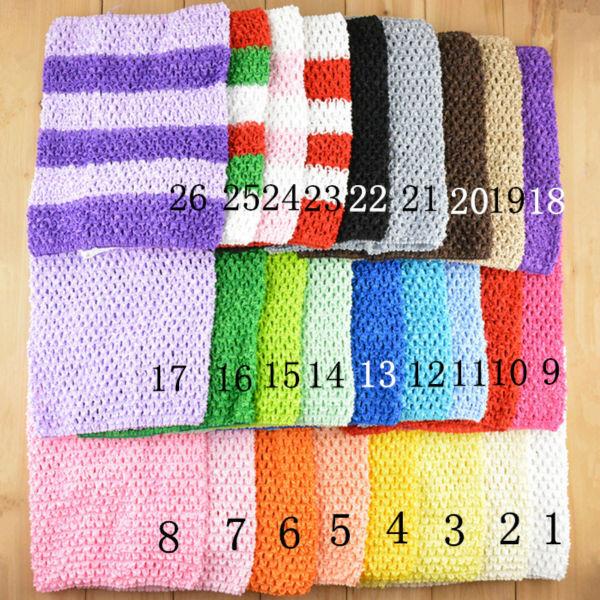 120pcs/lot Baby Crochet Tube Top Tutu Top Girls Chest Wrap Wide Crochet Headband size 7.9x9inch(China (Mainland))