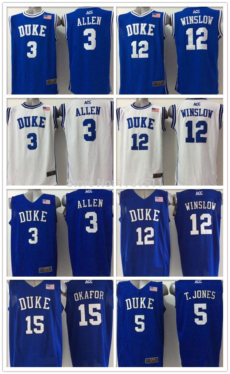 Duke Blue Devils jersey 3 Grayson Allen Jersey,Duke Tyus Jones Jersey, Cheap NACC College T.Jones Basketball Jerseys Stitched(China (Mainland))