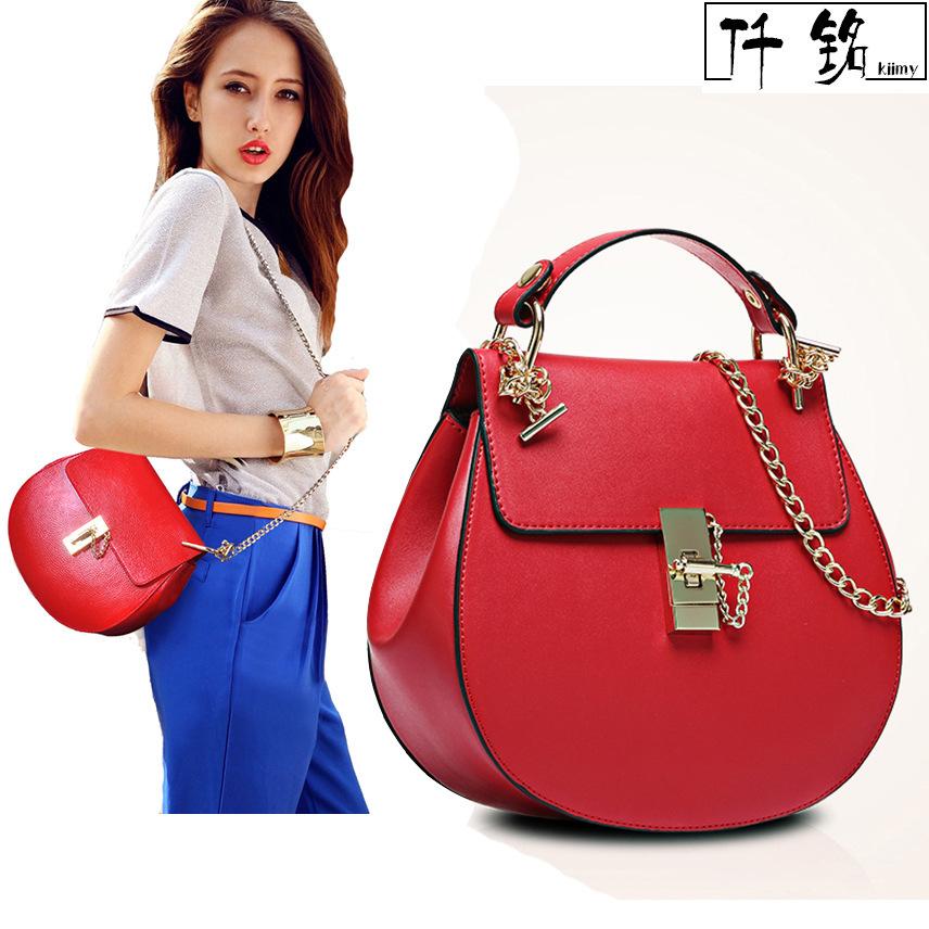 FREE SHIPPING new spring and summer 2015 women's fashion messenger saddle bag shoulder bag(China (Mainland))