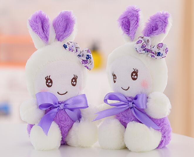 Lavender Rabbit Plush Toys Doll Bag Pendant Sucker Dolls Toy Stores(China (Mainland))