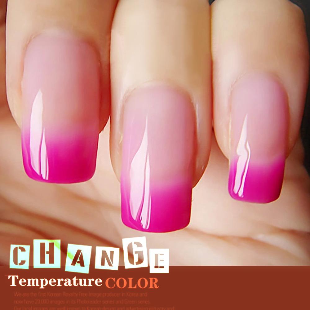 Mood Color Changing Nail Polish Lacquer Long Lasting 10ML Soak Off Gel Nail Varnish 205 fashion color for choose(China (Mainland))