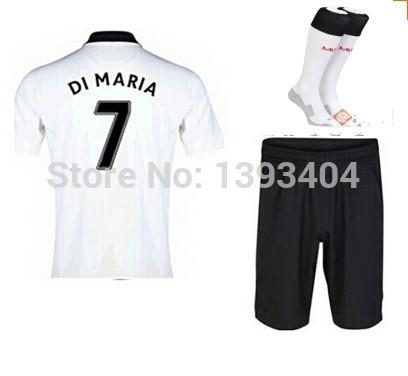 2015 New soccer jersey kits with socks Falcao V. Persie Januzaj mata rooney football uniform sets.(China (Mainland))