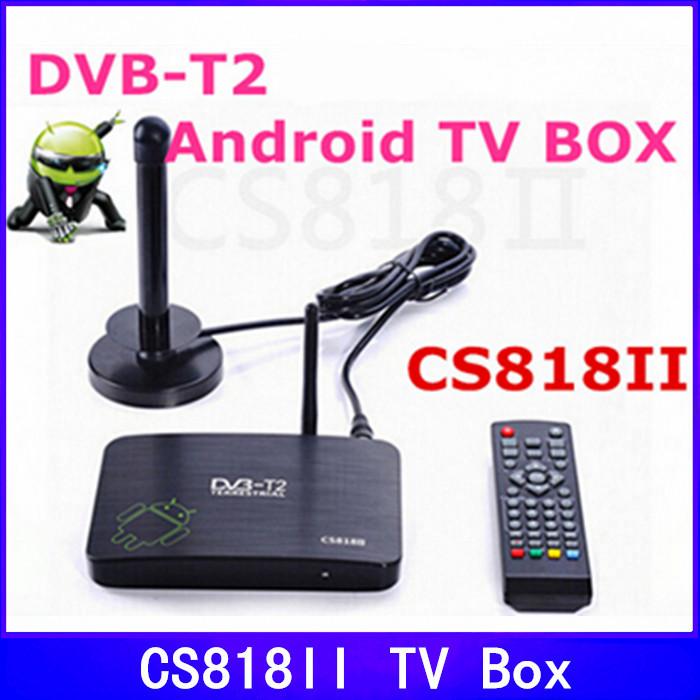 CS818II DVB-T2 Amologic 8726-MX Dual Core Android 4.2 Smart TV BOX HDMI WIFI RAM 1GB ROM 8GB DVB T2 TV Receicer XBMC Bluetooth(China (Mainland))