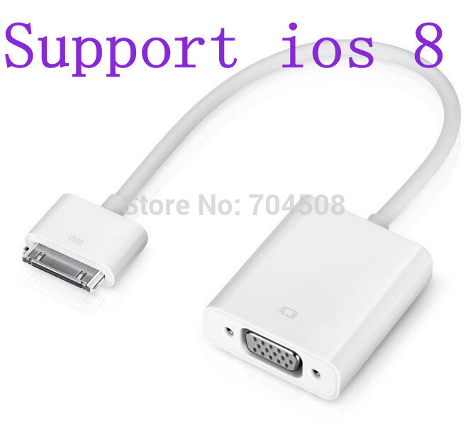 DZ483 Adapter Dock Connector to VGA Cable Adapter for Apple iPad 1 & 2 & 3 iPhone 4 & 4S(China (Mainland))