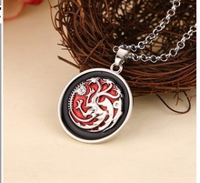 European style movies necklaces jewelry A Song of Ice and Fire Game of Thrones Targaryen dragon