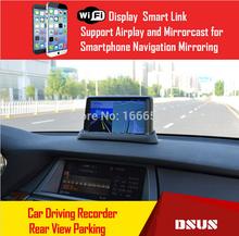 DSUS 2015 new 7 inch 1080P HD smart phone vehicle GPS navigation mirroring car DVR 170 View angle/rear view camera Wifi display