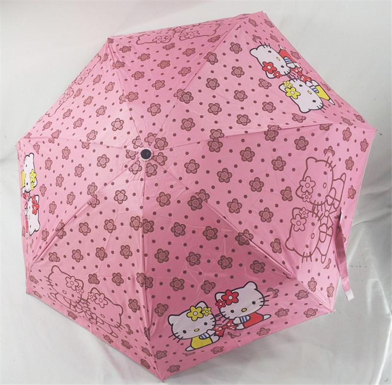 New lovely Cartoon Hello Kitty umbrella rain umbrellas for women anti UV umbrella(China (Mainland))