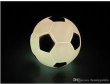 40pcs/lot Fashion Football Shape Electronic Nightlight Soccer LED Desk Lamp Table Accessories L306(China (Mainland))