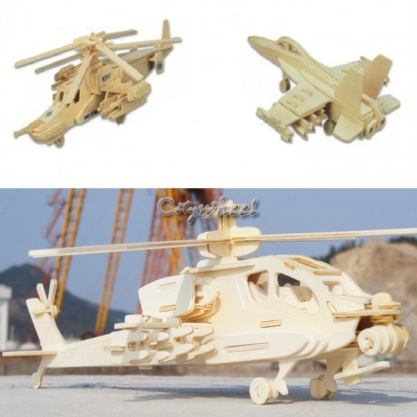 Novel Baby learning & education toys wooden airplane wood models kit baby Puzzles gifts for children Kids 12(China (Mainland))