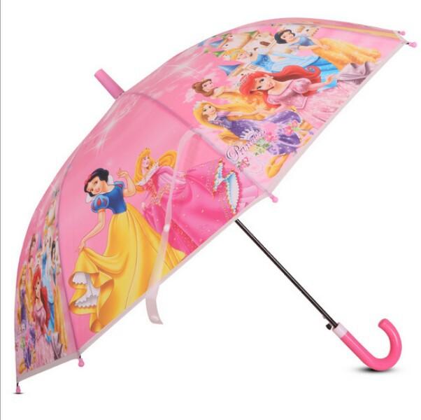 The new quality goods fashion umbrella The fairy tale princess pattern Straight rod children environmental protection umbrella(China (Mainland))