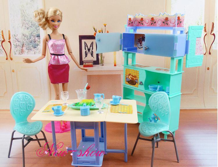 Barbie Slaapkamer Meubels : Dollhouse Dining Room Furniture