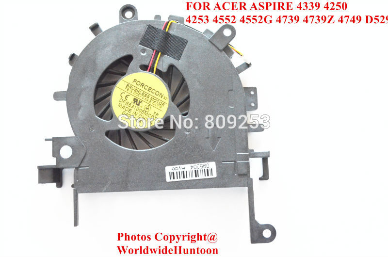 NEW FORCECON DFS531005MC0T FB15 COOLING FAN FOR ACER ASPIRE 4339 4250 4253 4552 4552G 4739 4739Z 4749 D529 CPU COOLING FAN(China (Mainland))