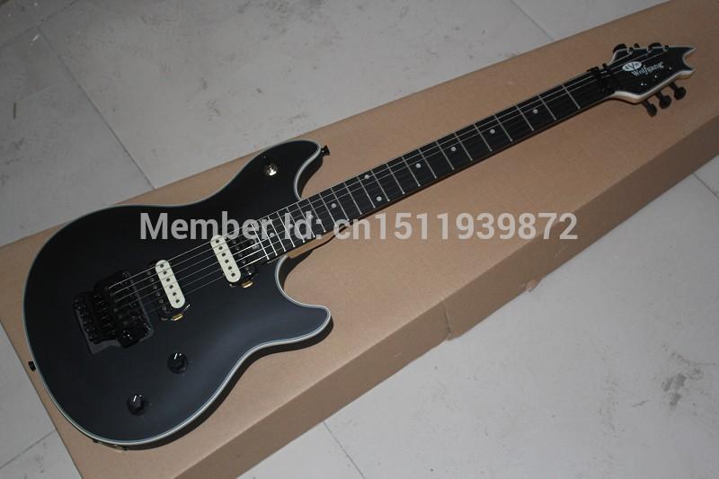 Free Shipping Top Quality Black EVH Wolfgang Electric Guitar Ebony Fretboard Floyd Rose Tremolo guitar(China (Mainland))