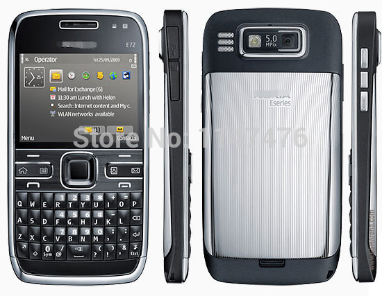 Free shipping Original cell phone E72 Mobile Phone 3G Wifi 5MP Unlocked Refurbished Cellphone English Russian Arabic keyboard(China (Mainland))