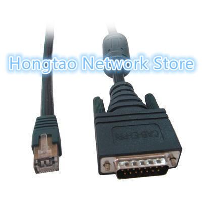 Free shipping factory supply CAB-E1-PRI DB15 to RJ45 E1 ISDN PRI router Cable for cisco AS5200 E1(China (Mainland))