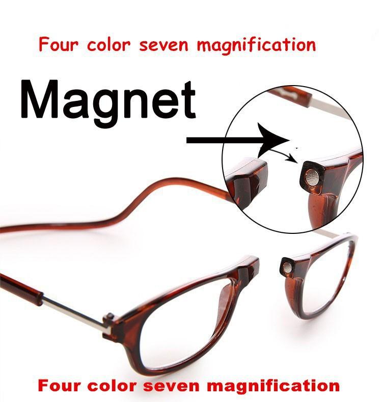 Hot Top Adjustable Front Glasses Connect unisex reading glasses magnetic fashion men women's brand design reading eyeglasses(China (Mainland))