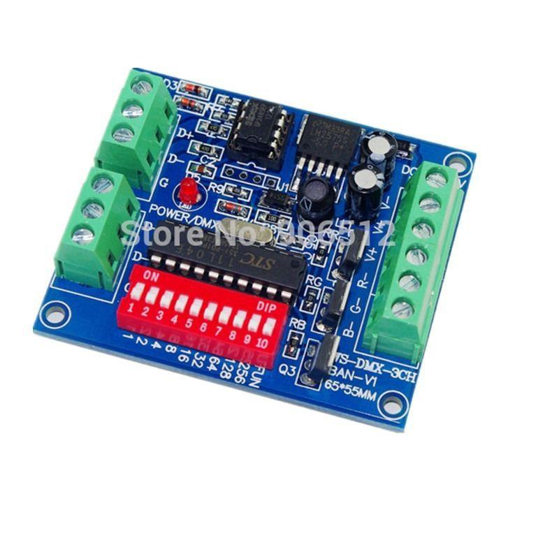 3CH Easy DMX 512 RGB Dimmer Decoder Controller For LED Strip Dump node module(China (Mainland))