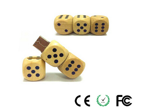 Brand New Wooden  Dice personalized model usb 2.0 memory flash stick pendrive for computer(China (Mainland))
