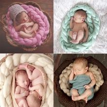 2015 New Wool Fiber Blanket 327cm Basket Filler Basket Stuffer Newborn Photography Background Props Baby Shower Gift(China (Mainland))
