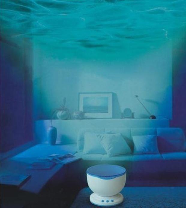 Ocean Daren Waves Projector Lamp With Speaker Spot Light 2015 Lovers Romantic Atmosphere LED Night Light Children Sleeping Lamp(China (Mainland))