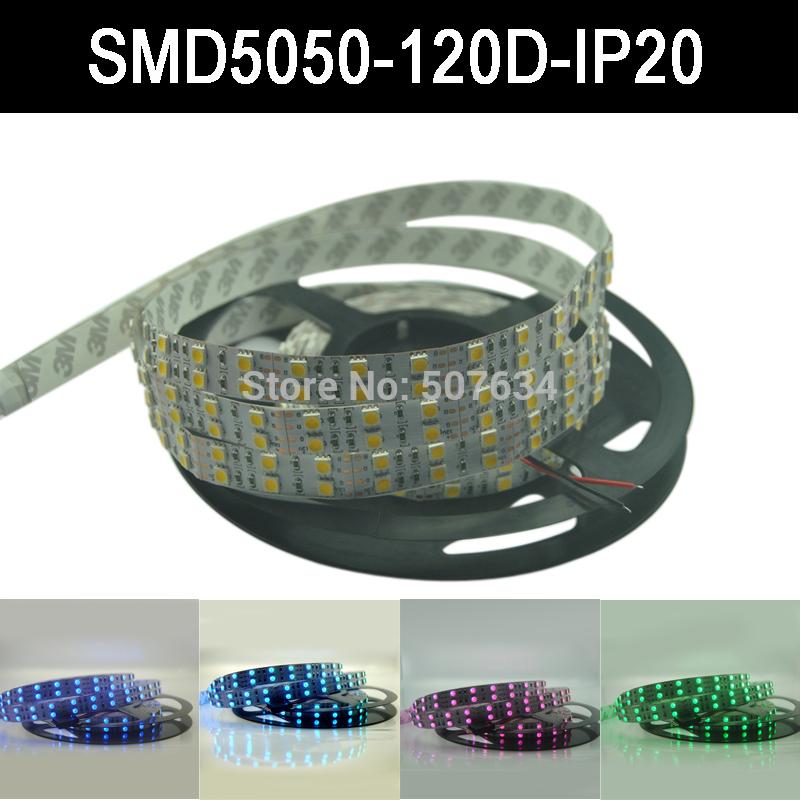 led strip smd 5050 120 led m IP20 Non waterproof 5M 600 LED Flexible Light, White/RGB Color(China (Mainland))