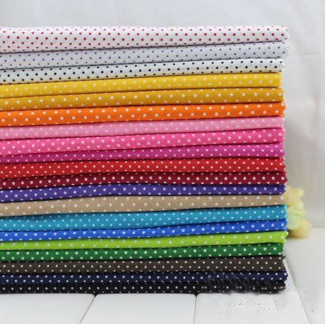 YUYING DIY 20 Colors Small Dot Printed 20x30cm solid 100% cotton fabric patchwork fabric Bundle DIY sewing Fabric Samplings(China (Mainland))