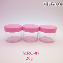 102pcs 20g Small PS Clear Cream Sample Jars,Empty Cosmetic Container,Sample Jar,Nail Art Cans