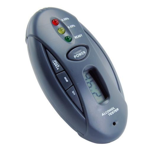 Breathalyzer Digital LCD Alcohol Tester Breath Checker Analyzer Professional Detector Keychain Flashlight Stopwatch 5pcs/lot(China (Mainland))
