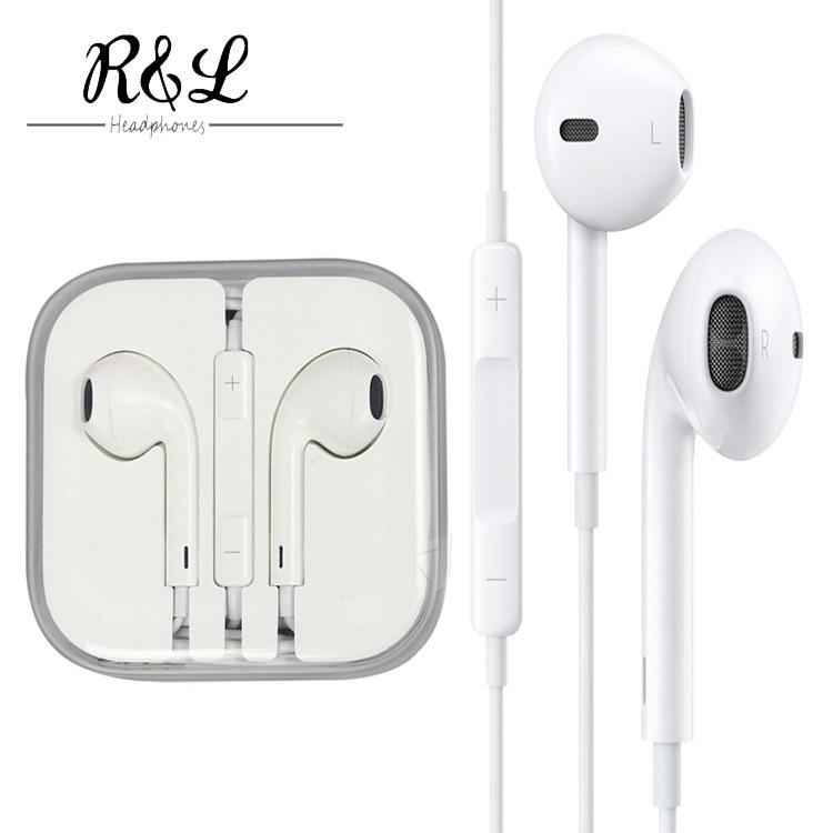 Original New Headphones Earphones Fone De Auriculares Earphone Headset for IPHONE 4 4S 5 5S 6 for Ipad 2 3 4 mini Mp3 Mp4 Xiaomi(China (Mainland))