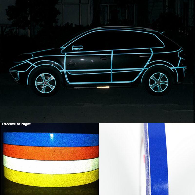 Blue 3M Reflective Stickers Vinyl Pinstripe Safety Warning Tape 1cmX30ft 9M(China (Mainland))