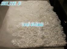 2015 High Quality Vintage Lace Bridal Veils 3M One Tier Layer White Elegant Church Wedding Dresses Veil 3 Meters(China (Mainland))