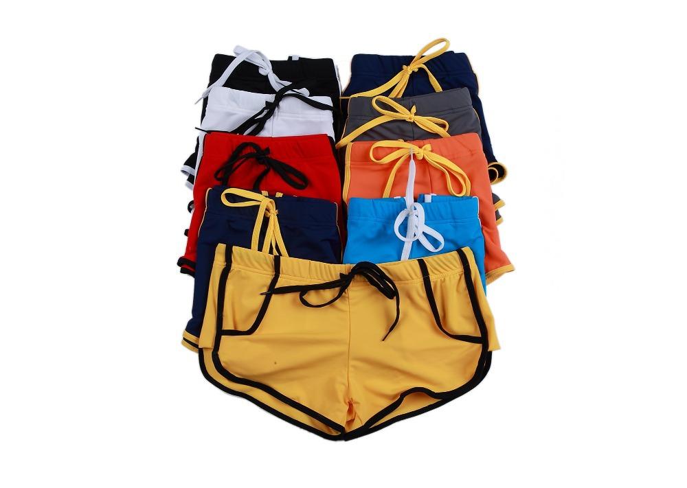 New 2015 Men Swimwear Sexy swimming trunks Low waist Stripe Pocket Shorts Boxers Sports suit Men Swimsuit S M L XL(China (Mainland))
