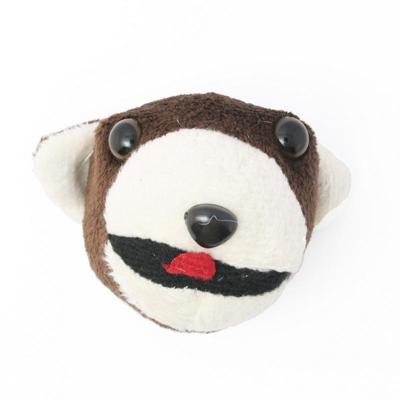 4pcs/bag Brown Animal Head Garment Accessories Patches Appliques for DIY 7x4cm, CN-GFB038-01(China (Mainland))