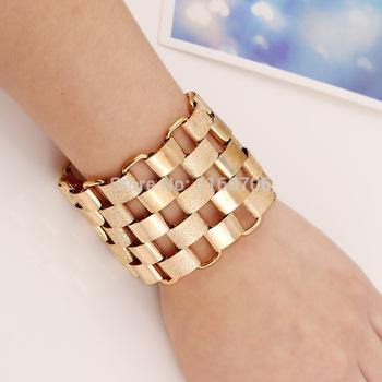 Дизайнер бижутерии браслеты для женщины аксессуары золото сплав манжеты браслеты ...