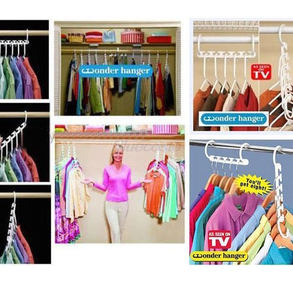 Retail 3pcs X Space Saver Saving Wonder Sepcial Hanger Clothes Closet with Organize Hook Wholesale