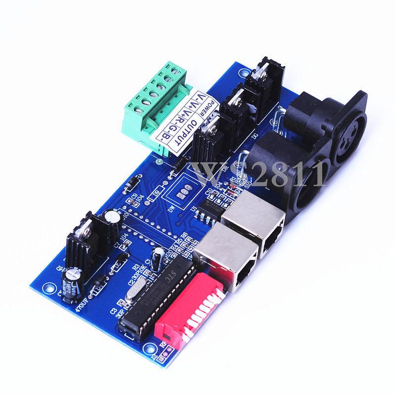 1Pcs DMX512 Controller LED DMX 512 decoder,RGB 3CH DMX512 controller strip(China (Mainland))
