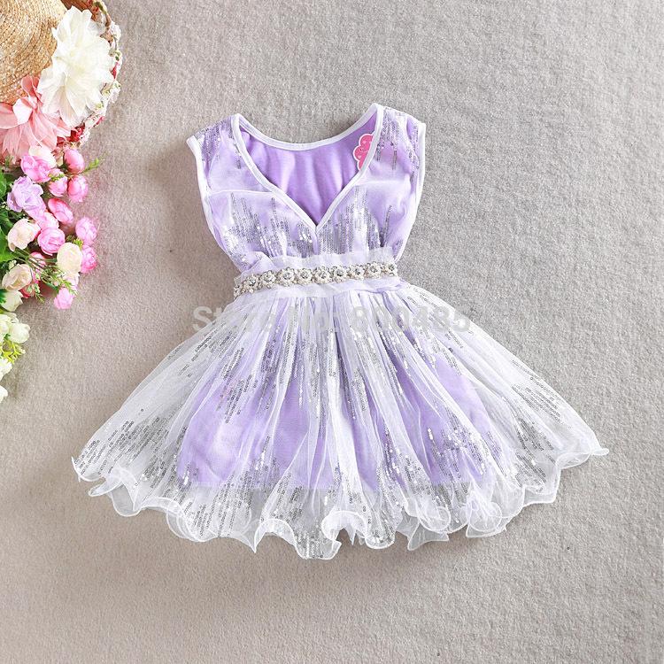 Korean version Best Sellers Girl V collar sequined dress(China (Mainland))