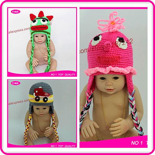 organic cotton winter hat duck hat flower knitted infant baby beanie knitting pattern newborn crochet hats(China (Mainland))