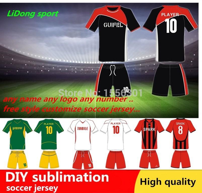 2015 CUSTOM Sublimation Thermal transfer kids soccer uniform.neymar Amateur team soccer jersey manufacturer football shirts sets(China (Mainland))
