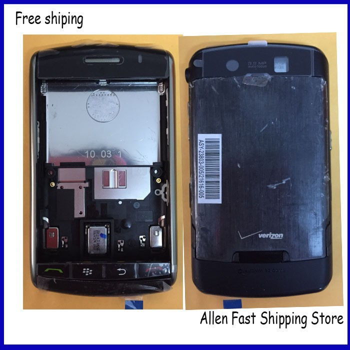 10 Pcs /Lot Original Complete Housing Cover Case For BlackBerry Storm 9500 9530, Black Color, Free Shipping(China (Mainland))