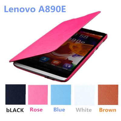 generous Lenovo A890E Leather ultra-thin Protective sleeve + Pc hard case for Lenovo A890E(China (Mainland))